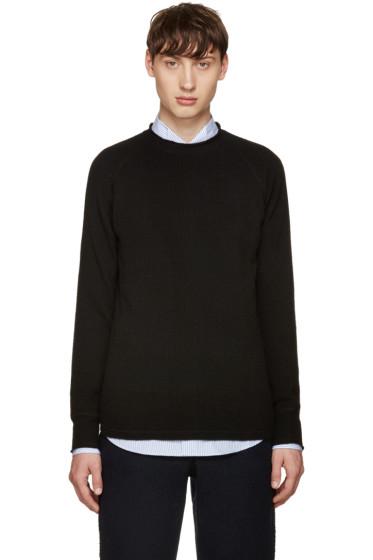 Sacai - Black Wool Raglan Sweater