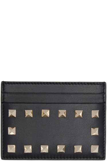Valentino - Black Rockstud Card Holder