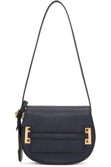 Valentino - Blue Rockstud Saddle Bag