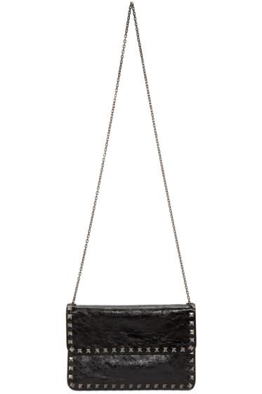 Valentino - Black Envelope Rockstud Noir Bag