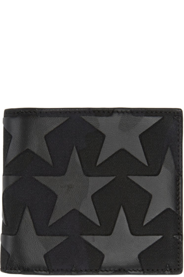 Valentino - Black Camustars Card Holder