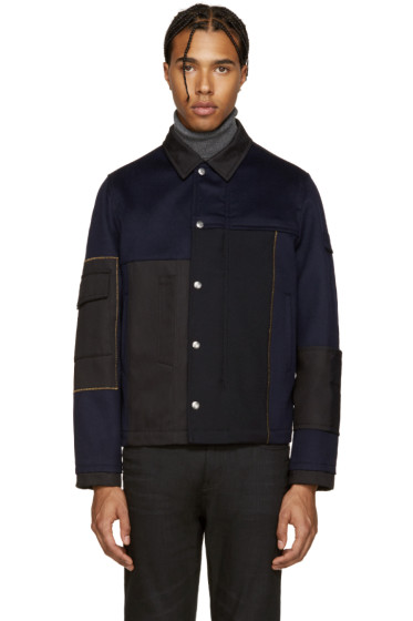 Valentino - Navy & Black Wool Jacket
