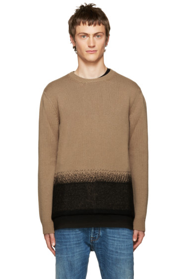 Valentino - Camel Felted Wool Sweater
