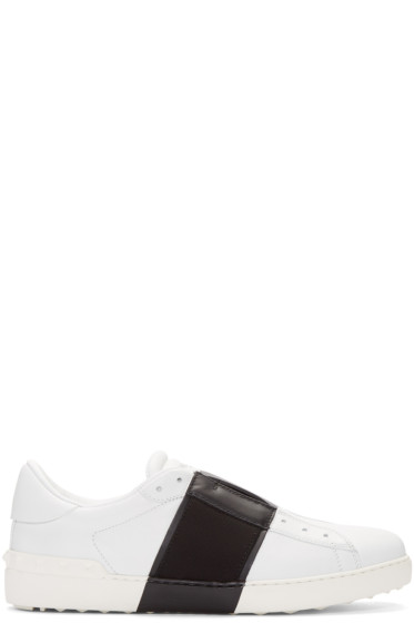 Valentino - White Grosgrain Open Sneakers
