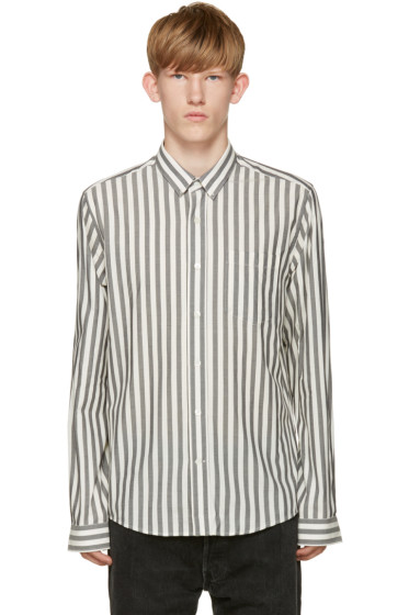 AMI Alexandre Mattiussi - Grey & White Cotton Shirt