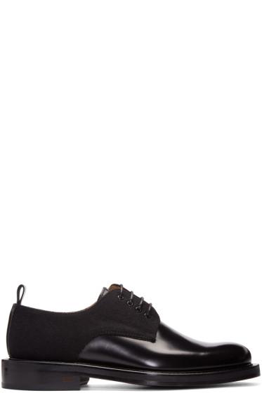 AMI Alexandre Mattiussi - Black Leather & Wool Derbys
