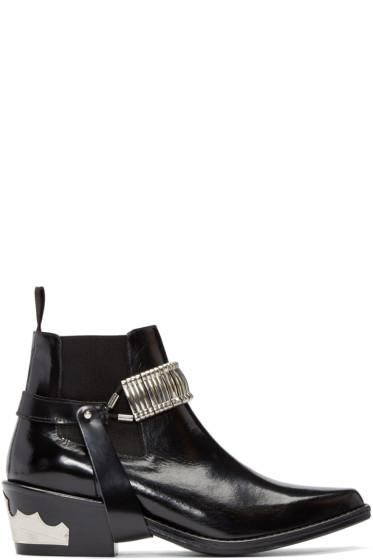 Toga Pulla - Black Strap Chelsea Boots