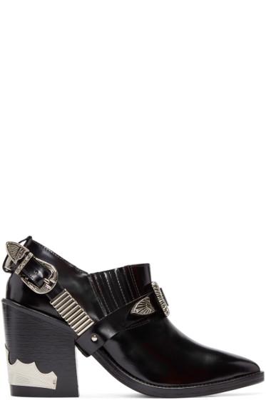 Toga Pulla - Black Western Strap Boots