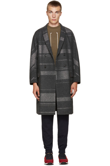Kolor - Grey Oversized Coat