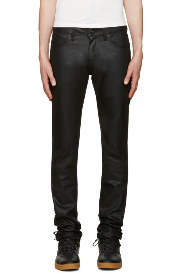 Naked & Famous Denim - Black Super Skinny Guy Waxed Jeans