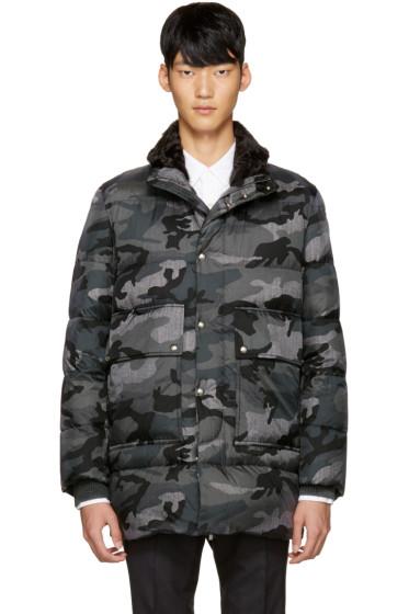 Moncler Gamme Bleu - Grey Quilted Down Camo Jacket