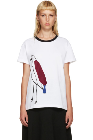 Mother of Pearl - White Liber Bird T-Shirt