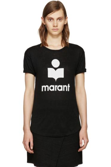 Isabel Marant Etoile - Black Linen Koldi T-Shirt