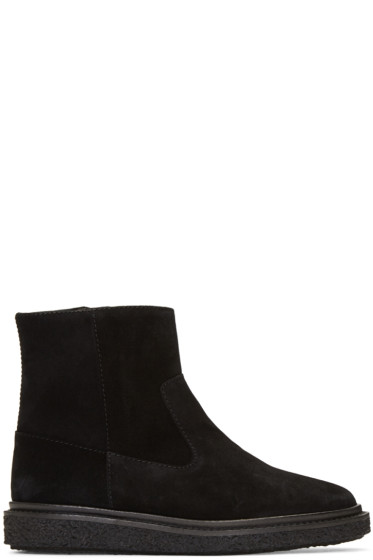 Isabel Marant - Black Suede Connor Creeper Boots