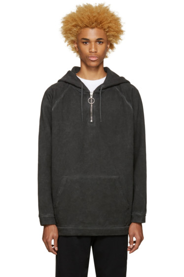 Off-White - Black Garment Dye Hoodie