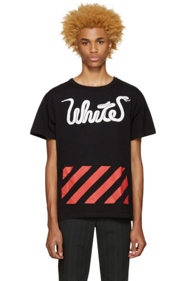 Off-White - Black White Patchwork T-Shirt