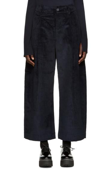Studio Nicholson - Navy Corduroy Bonnard Trousers