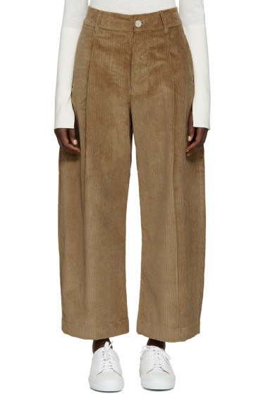 Studio Nicholson - Tan Corduroy Bonnard Trousers