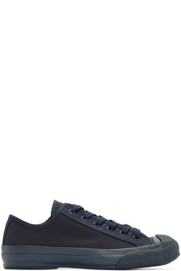 Studio Nicholson - Navy Canvas Merino Sneakers
