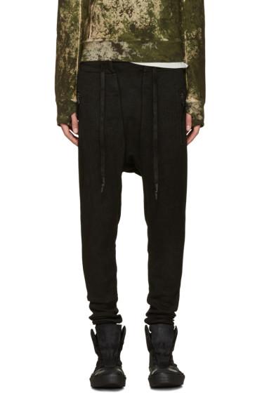 11 by Boris Bidjan Saberi - Black Coated Sarouel Lounge Pants