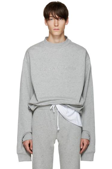 Gosha Rubchinskiy - Grey Double Cuff Sweatshirt
