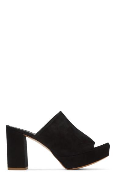 Mansur Gavriel - Black Suede Platform Mules