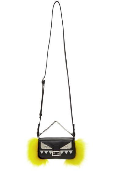 Fendi - Navy Fur Micro Baguette Bag