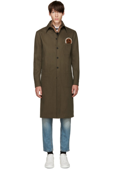 Fendi - Green Military Face Jacket
