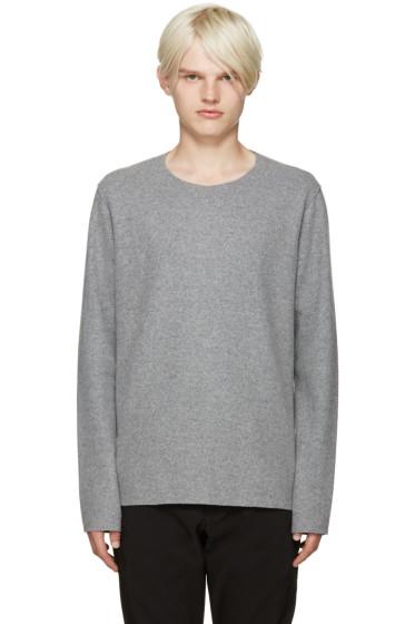 Attachment - Grey Raw Edge Sweater