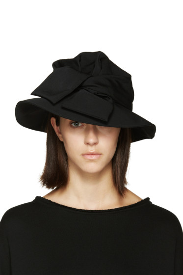 Y's - Black Tied Cloche Hat