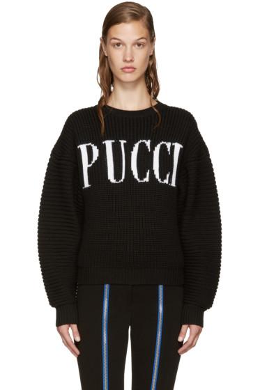 Emilio Pucci - Black Logo Sweater