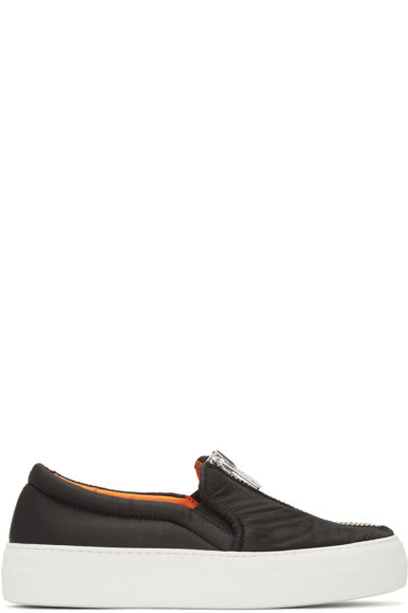 Joshua Sanders - Black Bomber Slip-On Sneakers