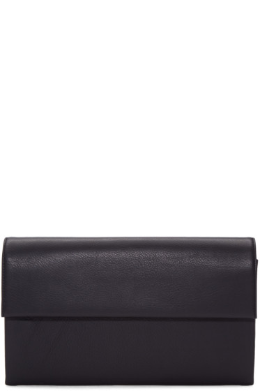 Tsatsas - Black Leather Haze Clutch