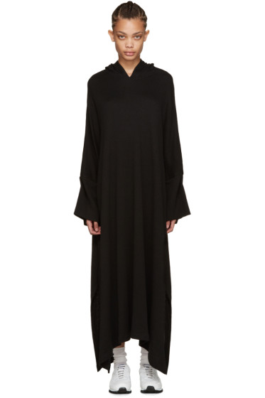 Nocturne #22 - Black Knit Hooded Dress
