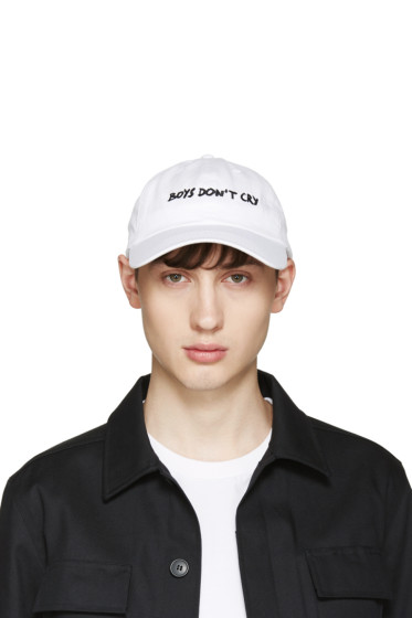 Nasaseaons - White 'Boys Don't Cry' Cap