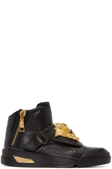 Versace - Black Medusa High-Top Sneakers