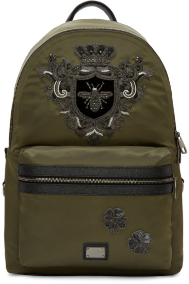 Dolce & Gabbana - Green Nylon Bee Backpack