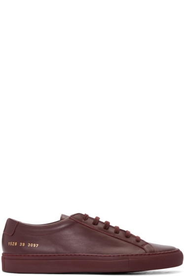 Common Projects - Burgundy Original Achilles Sneakers