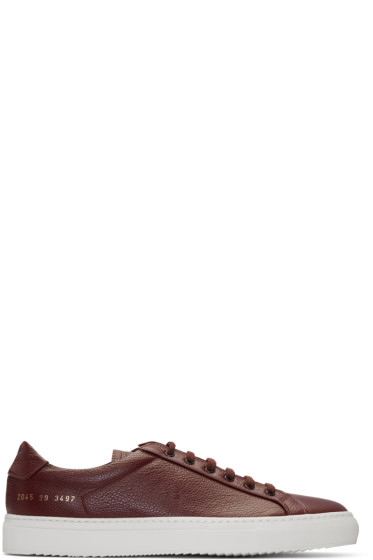 Common Projects - Burgundy Premium Sneakers
