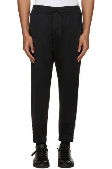 Y-3 - Black Cropped Lounge Pants