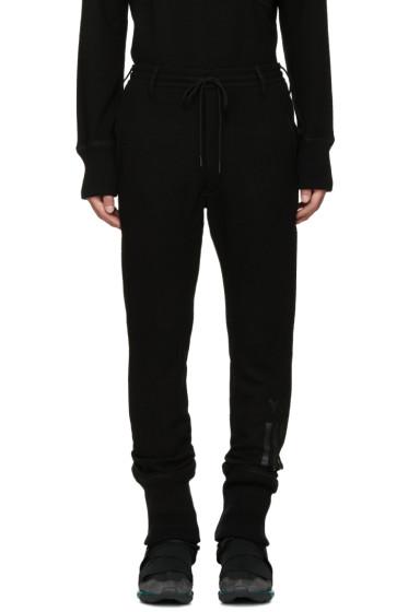Y-3 - Black Wool Lounge Pants
