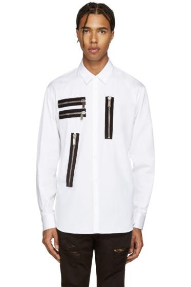 Dsquared2 - White Zips Relax Dan Shirt