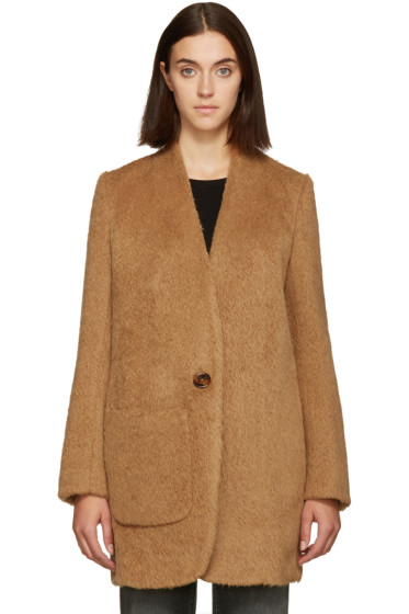 Helmut Lang - Brown Shaggy Wool Coat