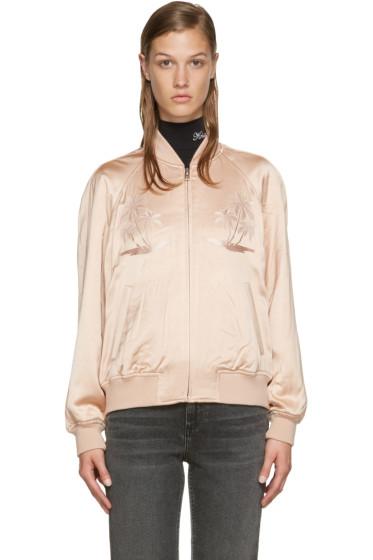 Alexander Wang - Pink Souvenir Bomber Jacket