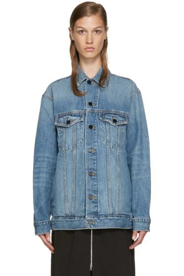 Alexander Wang - Indigo Denim Oversized Daze Jacket