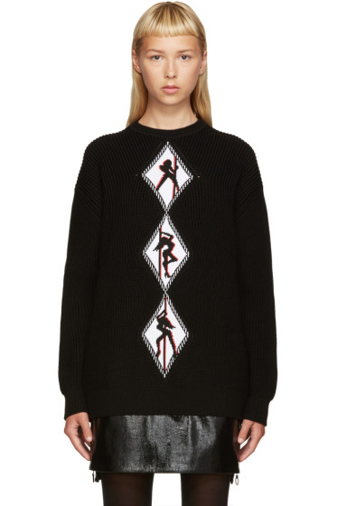 Alexander Wang - Black Graphic Sweater