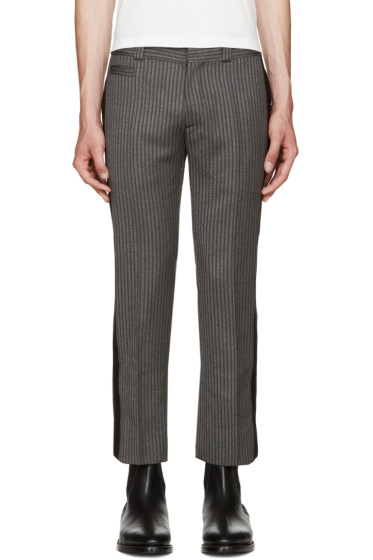 Marc Jacobs - Grey Wool Striped Trousers