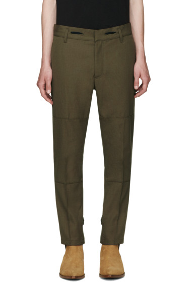Marc Jacobs - Green Twill Strictly Trousers