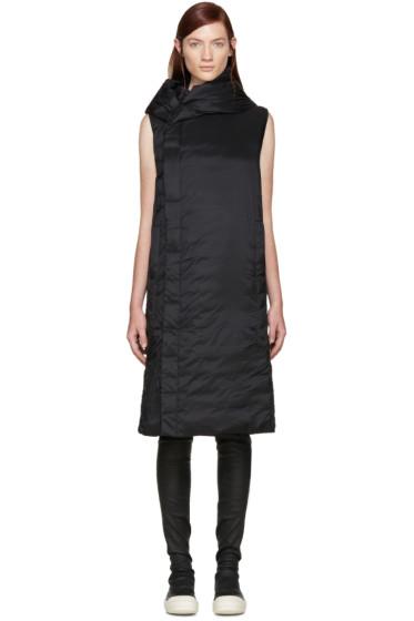 Rick Owens - Black Hooded Sleeveless Coat
