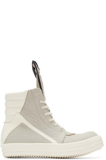 Rick Owens - Grey Geobasket High-Top Sneakers